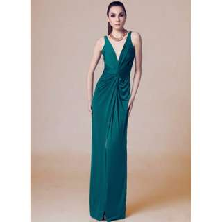 Style Staple Green Long Gown