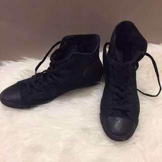 Black High Top Converse Sneakers