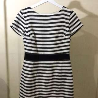 Stripes Party Dress OASIS