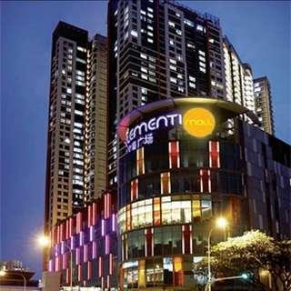 4-room unit above Clementi Mall 20m beside MRT. 93sqm.