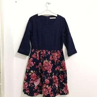 Minimal Floral Dress (ORI)