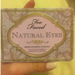 """TOO FACED """"NATURAL EYES"""" PALETTE - AUTHENTIC."""