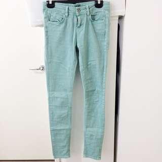 ASOS Size 6 Mint Green Super Skinny Jeans