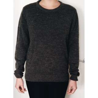 Grey Woollen Jumper from Dr Denim