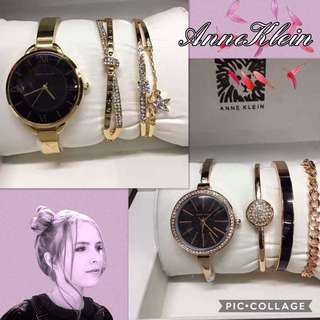 ‼️50% OFF ON ANNE KLEIN Women's Bangle Watch & Bracelet Set‼️