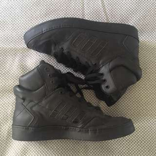 Adidas All Black High tops