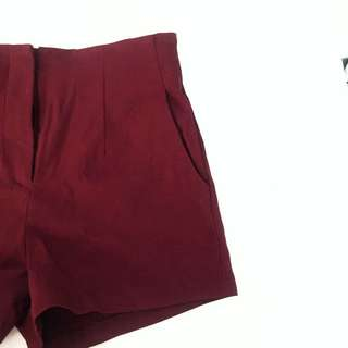 Mirrou Maroon Shorts