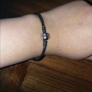 Pandora Oxidized Silver Charm Bracelet
