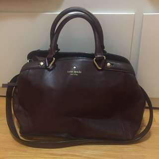 Kate Spade Authentic Brown Bag With Strap