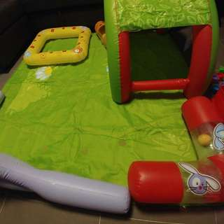 Baby Playmat With Inflatable Toys