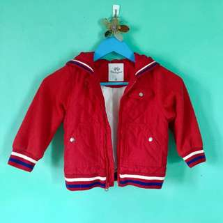 RED varsity jacket With hoody