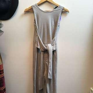 Grey Cotton Jumpsuit