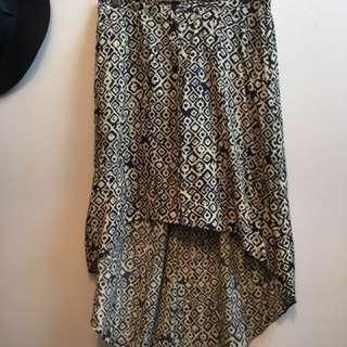 High Waisted Mullet Skirt