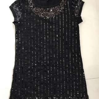 Sequins Black Top (ideal For Ladies Night Out)