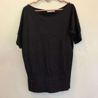 Black batwing top