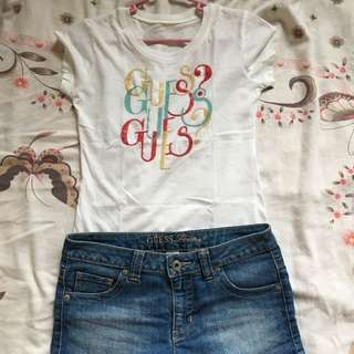 Guess. Blouse And Short