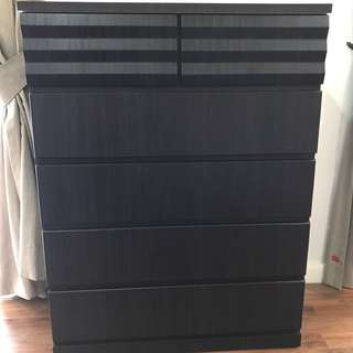 shelf with drawer big size enough for clothing..