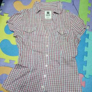 Authentic Levis Checkered Polo shirt