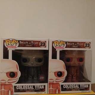 Colossal Titan Funko Pops