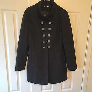 Size 8 Black Winter Coat