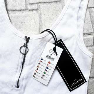 Cotton On's Ribbed Tank Top with Zip