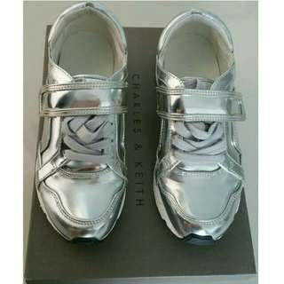 CHARLES & KEITH Silver Sport Shoes