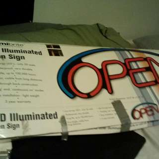 Lumibrite Illuminating LED Open Sign