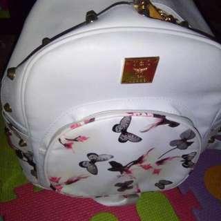 Korean White Backpack