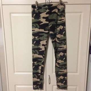 Sportsgirl Army Print Leggings