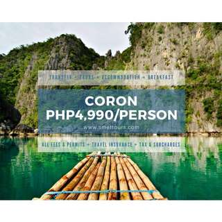 Affordable Coron, Palawan Tour Package