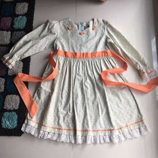 Girls Long Sleeve Dress With Zip From Hamster London Age 9-10