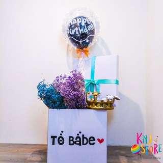 🚚 生日快樂氣球驚喜禮盒