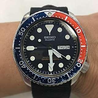 二手精工潛水200米電子手錶