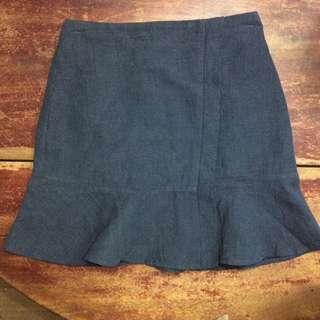 Linen Peplum Skirt