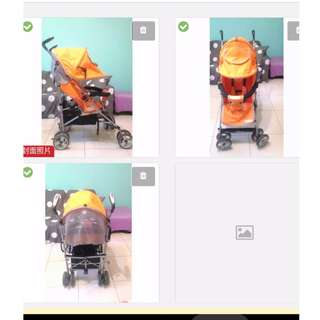 Babybabe加寬坐椅嬰兒推車 自取850