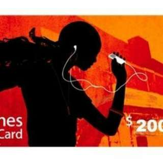 Itunes Gift Card USA $200