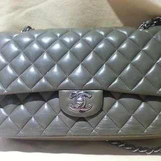 Chanel  2.55 羊皮淺綠色六成新