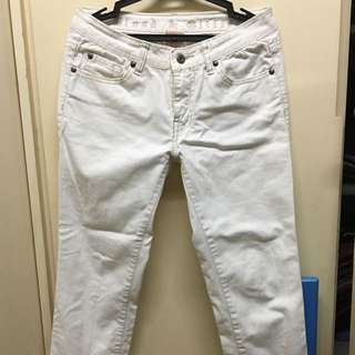 White Cropped Slim Jeans SIZE 27