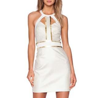 Sass & Bide - You're Everywhere Dress - Size 8 - Ivory/ Gold - BNWT - RRP $650