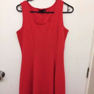 Simple Red Dress