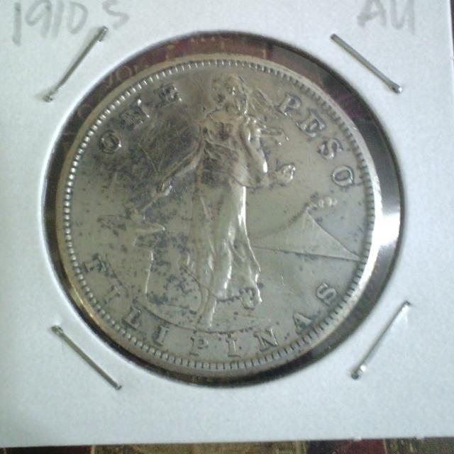 1910s One Peso Coin AU SILVER