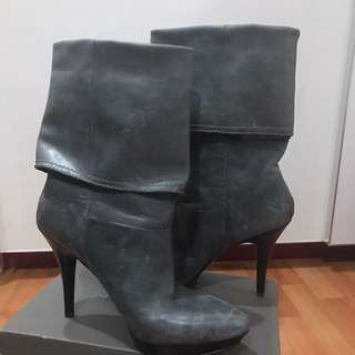 Nine West Heels Boots (grey)
