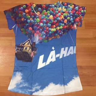 Baloons Blue Printed T Shirt Casual