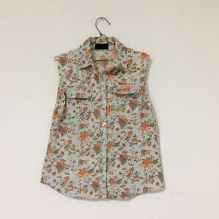 Flower Tank Blouse
