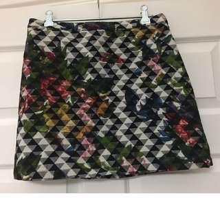 Patterned Mini Skirt - Topshop