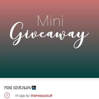 Join @themessystuff's Mini Giveaway