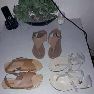 3 Flat Sandals