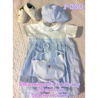 Christening Outfit For Boy (PRELOVED)
