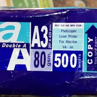 {Stationary} BN Double A Brand A3 Size Paper Best For Use With Your : •Photocopier •Laser Printer •Fax Machine •Ink-Jet