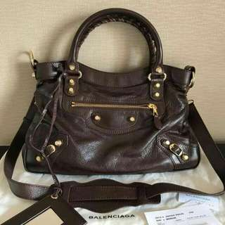 Balenciaga Town Classic brown GWH 2013. Complete Set But No Receipt. Very Good Condition